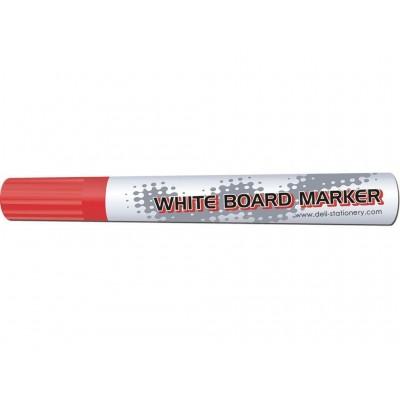 Маркер для досок Deli 6801 красный 4,5мм пулевидый