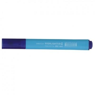 Маркер текстовый Deli 603S голубой 4мм скошеннный треугольный корпус