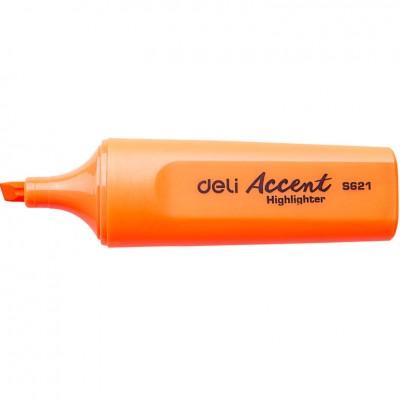 Маркер текстовый Deli 621ES оранжевый 5мм скошенный Accent