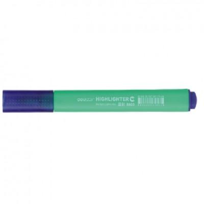 Маркер текстовый Deli 603S зеленый 4мм скошенный треугольный корпус