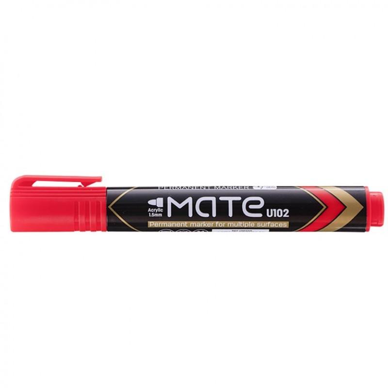 Маркер перманентный Deli EU10240 красный 1,5мм пулевидный с возможностью дозаправки