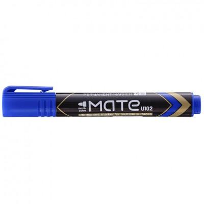 Маркер перманентный Deli EU10230 синий 1,5мм пулевидный с возможностью дозаправки