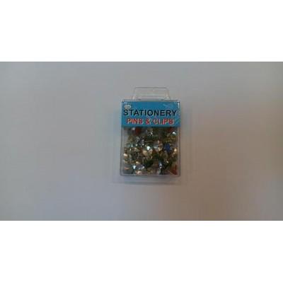 Кнопки канцелярские цветные P01180, Qifei