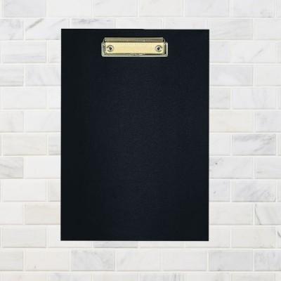 Планшет А4 Economix с прижимом, пластик, черный