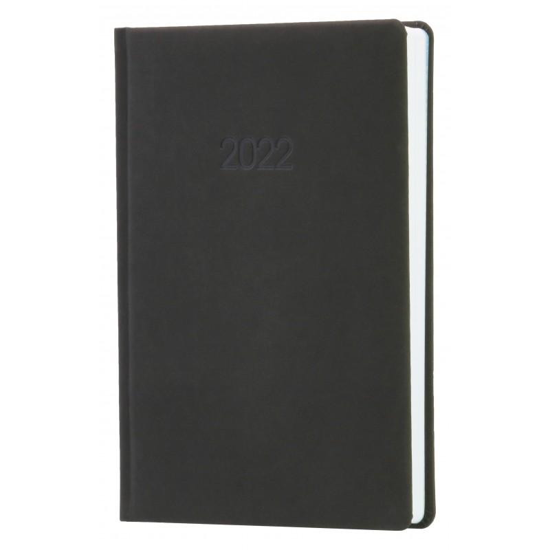 Ежедневник датированный 2022г., Nubuck, серый, А5, O26158