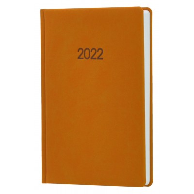 Ежедневник датированный 2022г., Nubuck, светло-коричневый, А5, O26160