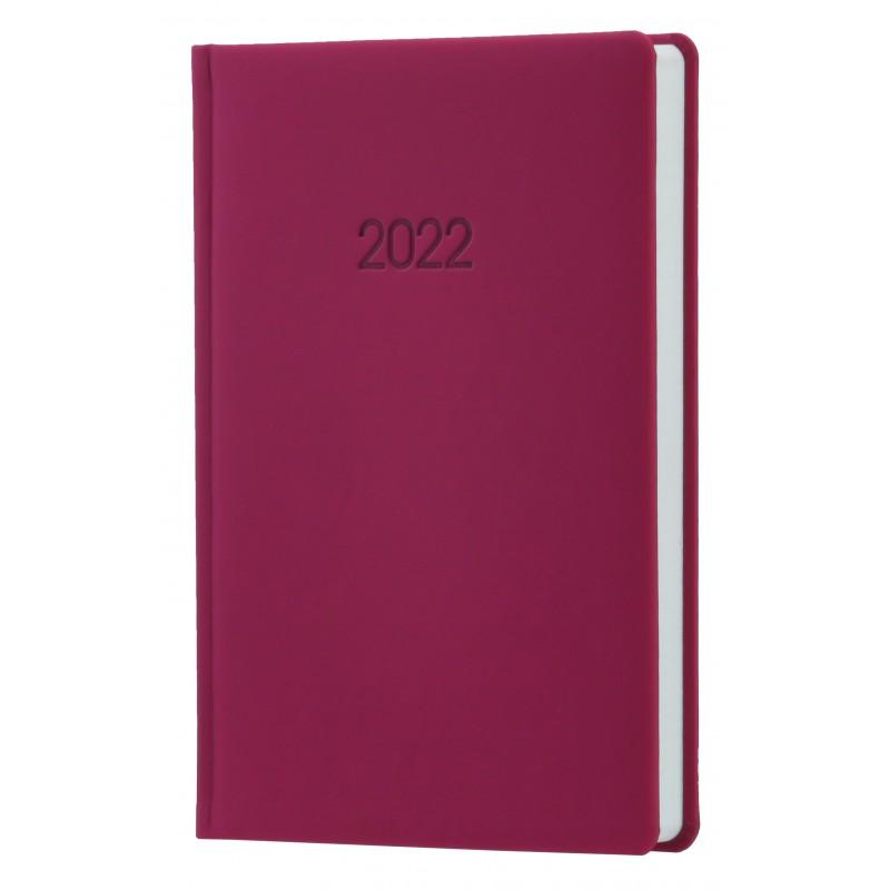 Ежедневник датированный 2022г., VIENNA, баклажанный, А5, O26164