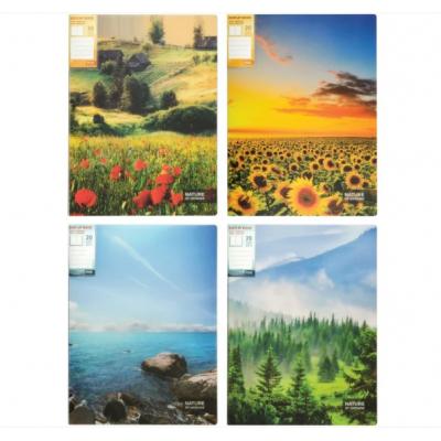 Папка А4 с 20 файлами Optima Nature of Ukraine, ассорти