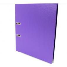 Папка регистратор А4, 70 мм Люкс Economix, фиолетовая