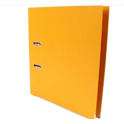 Папка регистратор А4, 70 мм Люкс Economix, желтая