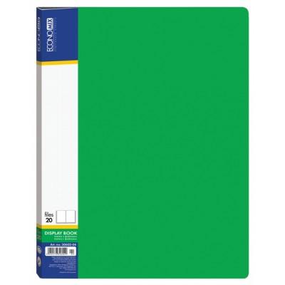 Папка А4 с 20 файлами Economix, зеленая