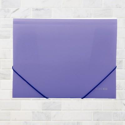 """Папка пластиковая А4 на резинке Economix, фактура """"помаранч"""", фиолетовая"""
