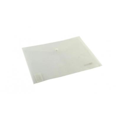 """Папка-конверт В5 на кнопке Economix, 180 мкм, фактура """"глянец"""", прозрачная"""
