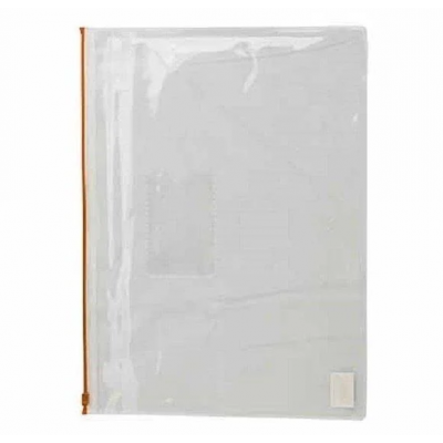 Папка-конверт А5, пласт. молния, красный