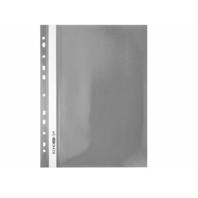 """Папка-скоросшиватель А4 Economix Light с перфорацией, фактура """"Глянец"""", серая"""