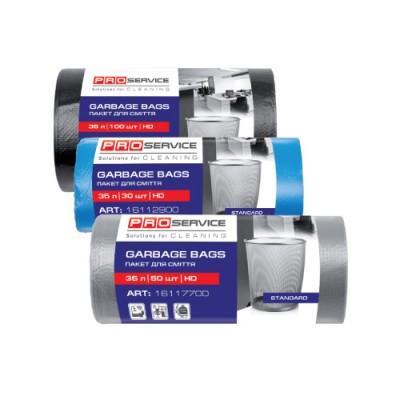 PRO Пакет для мусора полиэтиленовый ХД 50 * 55 синий 35л / 100шт