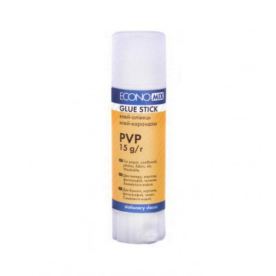Клей-карандаш Economix основа PVP 15 г