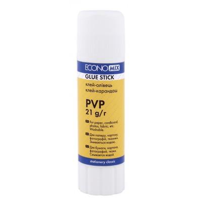 Клей-карандаш Economix основа PVP 21 г