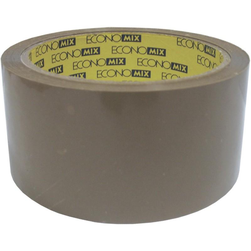 Лента клейкая упаковочная (скотч) 48*20 Economix коричневая