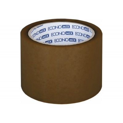 Лента клейкая упаковочная (скотч) 72*66 Economix коричневая