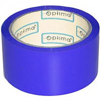 Лента клейкая упаковочная (скотч) 48*30 Optima синяя