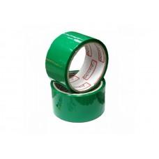 Лента клейкая упаковочная (скотч) 48*30 Optima зеленая