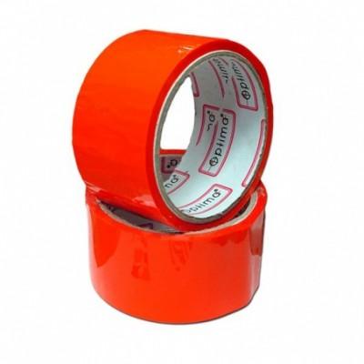Лента клейкая упаковочная (скотч) 48*30 Optima красная