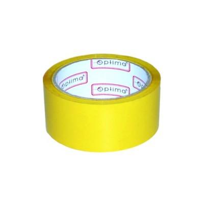 Лента клейкая упаковочная (скотч) 48*30 Optima желтая